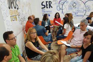 Sesión de facilitación visual y activación de #lenguajevisual para decantar el proyecto común de los 5 colegios gabrielistas de España. Y elaboración de síntesis visuales de sus principales ejes estratégicos.