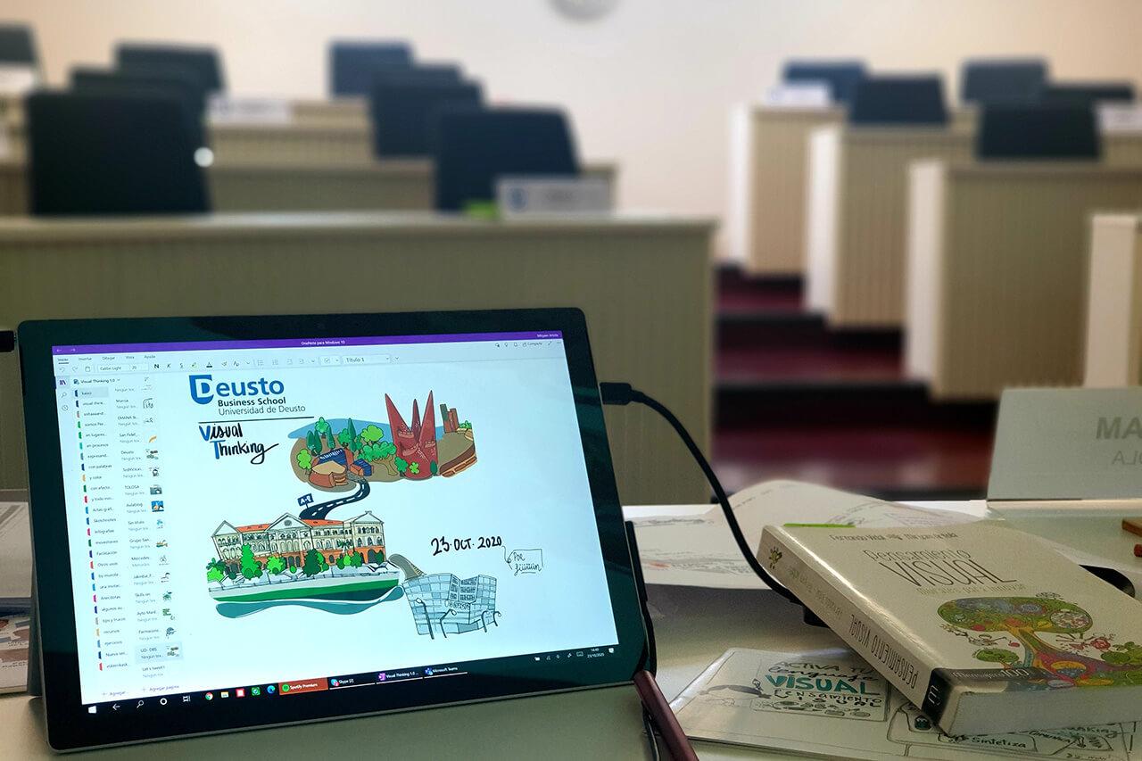 Impartición del módulo de #Lenguaje Visual para el management inteligente dentro del Executive MBA de la Universidad de Deusto